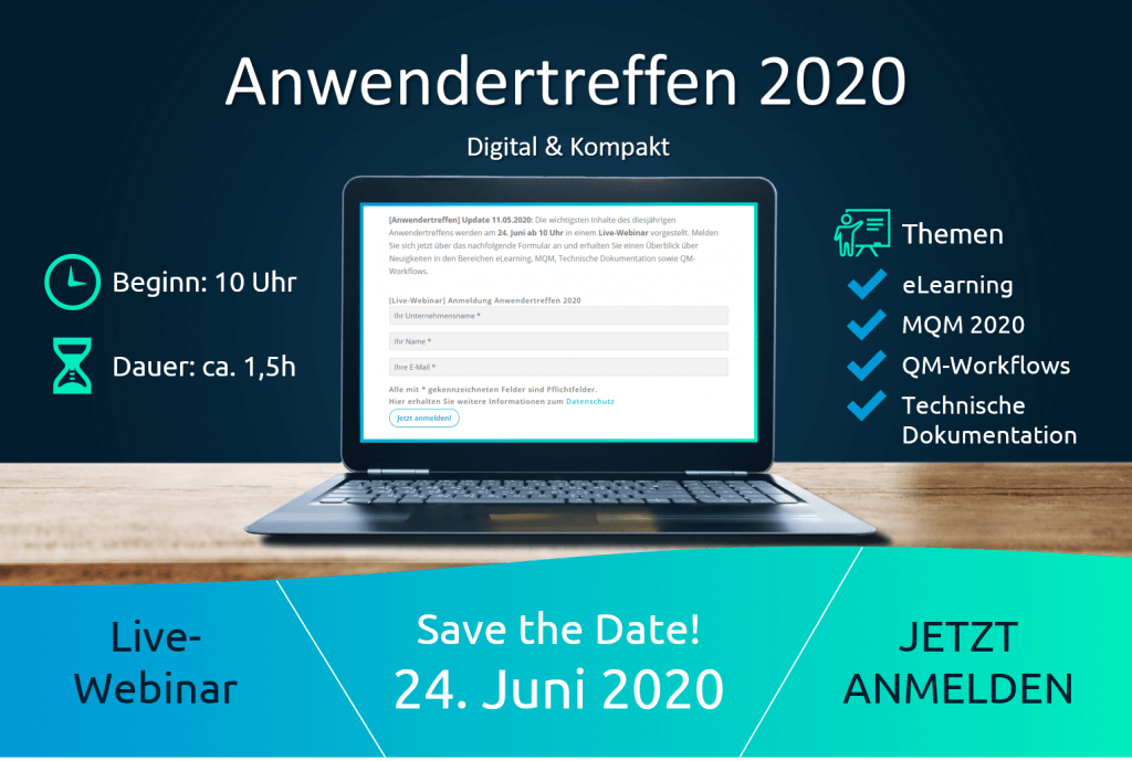 Presentation of all information about the digital & compact user meeting 2020