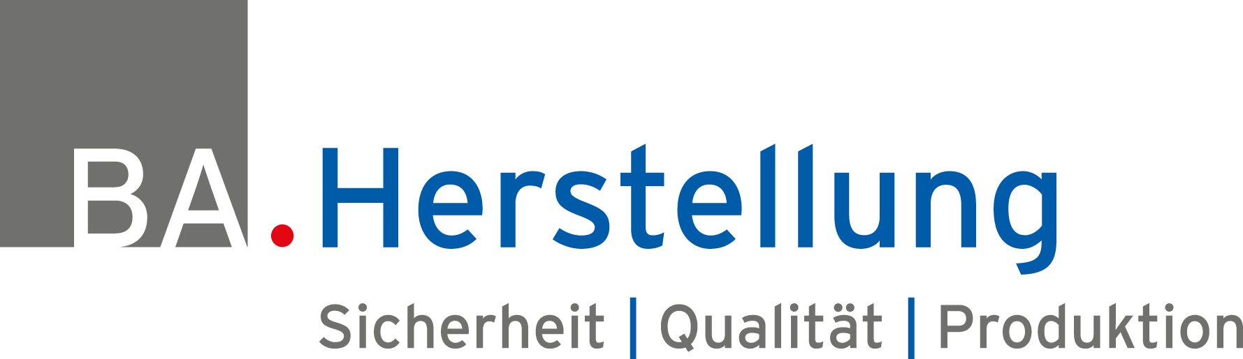 Display of the Logo BA. Herstellung