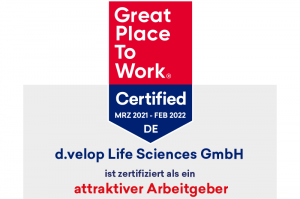 d.velop Life Sciences erhält Great Place to Work® Zertifizierung