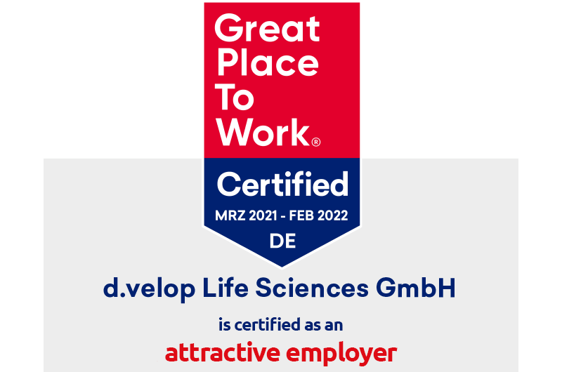 d.velop Life Sciences receives Great Place to Work® certification